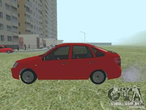 VAZ 2192 para GTA San Andreas traseira esquerda vista