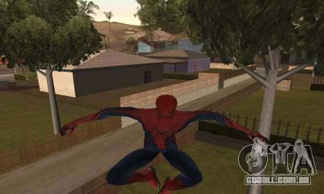 The Amazing Spider-Man Anim Test v1.0 para GTA San Andreas segunda tela