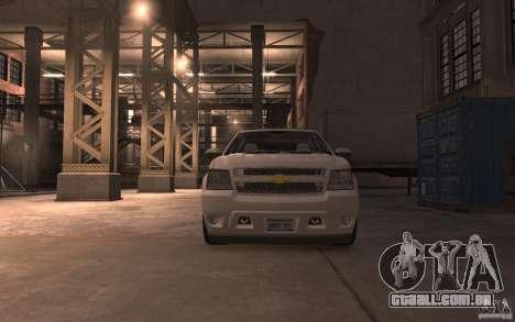 Chevrolet Avalanche v1.0 para GTA 4 vista de volta