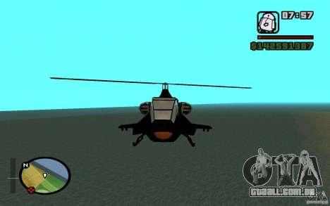 Urban Strike helicopter para GTA San Andreas esquerda vista