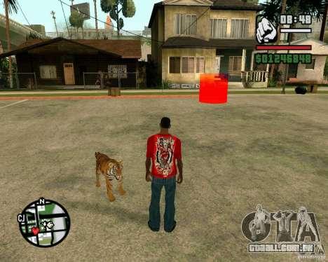 Tigre no GTA San Andreas para GTA San Andreas