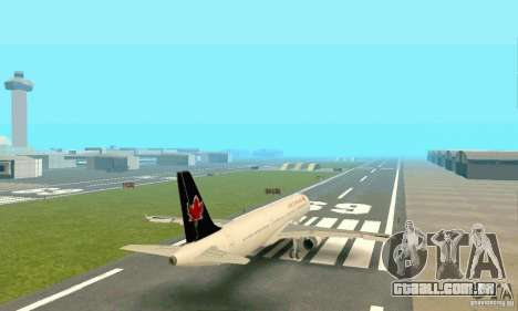 Airbus A321 Air Canada para GTA San Andreas vista traseira