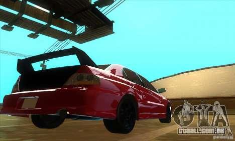 Mitsubishi Lancer Evolution IX Carbon V1.0 para GTA San Andreas esquerda vista