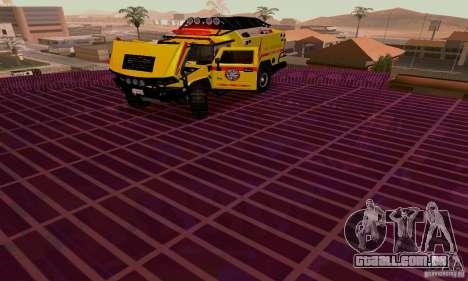 Hummer H2 Ambluance de transformadores para GTA San Andreas vista traseira