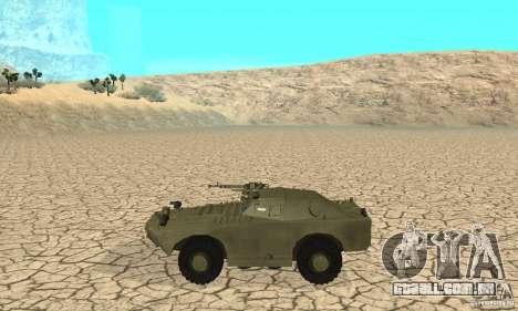 Pele BRDM-1 1 para GTA San Andreas traseira esquerda vista