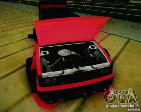 Tofas Dogan SLX DRIFT para GTA San Andreas vista interior