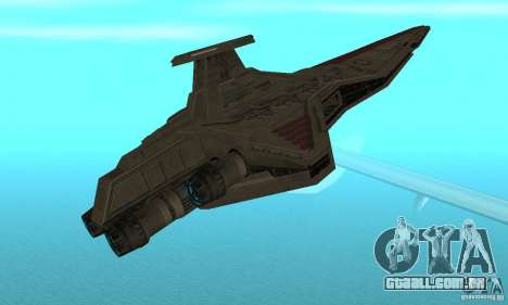 Republic Attack Cruiser Venator class v3 para GTA San Andreas vista direita