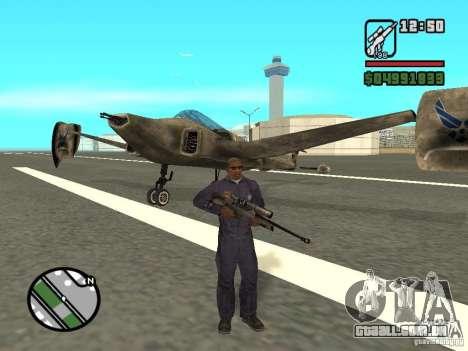 Future Army Jet para GTA San Andreas esquerda vista