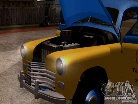 GAZ M20 Pobeda táxi para GTA San Andreas vista traseira