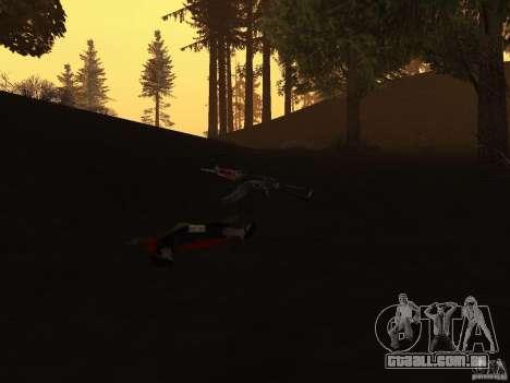 Pak versão doméstica de armas 2 para GTA San Andreas quinto tela