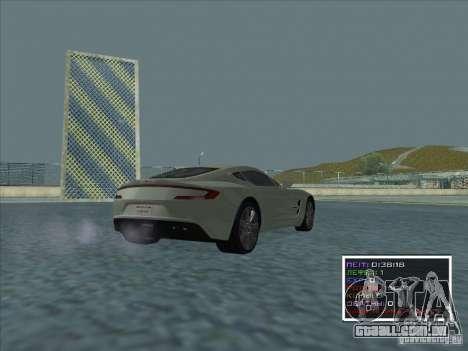 Aston Martin One 77 2011 para GTA San Andreas traseira esquerda vista