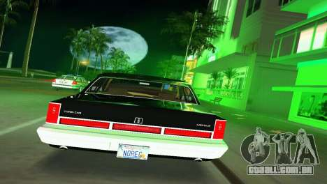 Lincoln Town Car 1997 para GTA Vice City vista direita