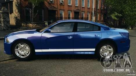 Dodge Charger Unmarked Police 2012 [ELS] para GTA 4 esquerda vista