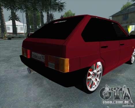 VAZ 2109 Drift para GTA San Andreas vista traseira