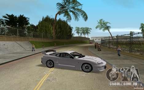 Toyota Supra Chargespeed para GTA Vice City vista traseira esquerda