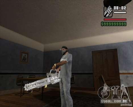 Cromo Minigun para GTA San Andreas segunda tela