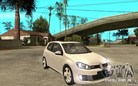 VW Golf 6 GTI para GTA San Andreas vista traseira