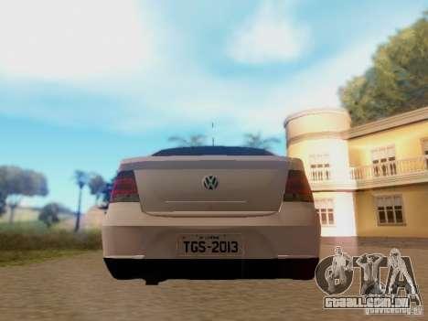 Volkswagen Voyage G5 Roda Passat CC para GTA San Andreas vista direita