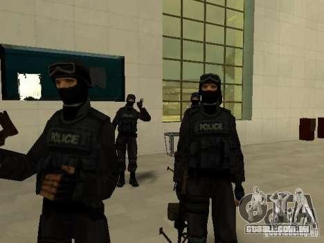 Ajuda Swat para GTA San Andreas por diante tela
