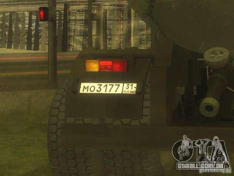 Reboque cimento TC-12 para GTA San Andreas vista traseira