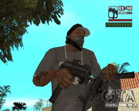 New Micro uzi HD para GTA San Andreas segunda tela