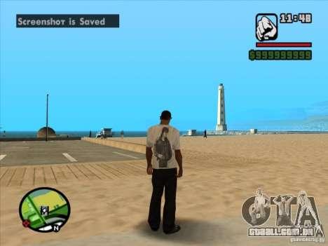 Camiseta filmes para GTA San Andreas por diante tela