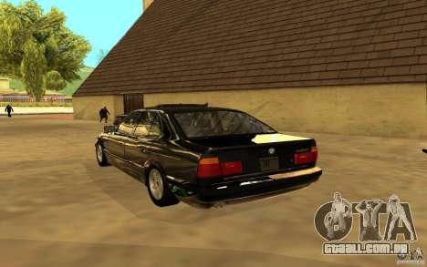 BMW 525 (E34) para GTA San Andreas vista traseira