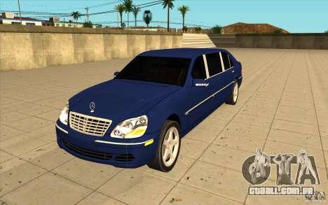 Mercedes-Benz S600 Pullman W220 para GTA San Andreas