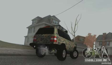 Toyota Land Cruiser 100 Off Road para GTA San Andreas traseira esquerda vista