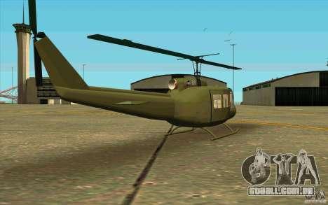 UH-1D Slick para GTA San Andreas vista direita
