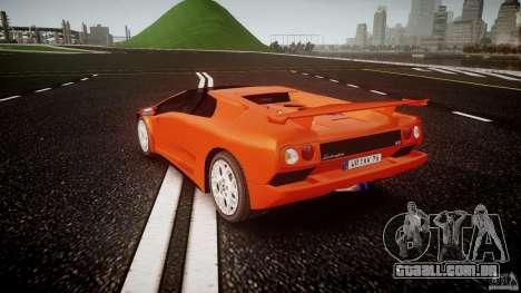 Lamborghini Diablo 6.0 VT para GTA 4 traseira esquerda vista