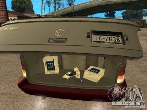 HD Blista para GTA San Andreas vista traseira