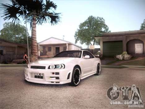 Nissan Skyline R34 para GTA San Andreas