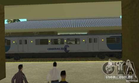 Cerberail Train para GTA San Andreas traseira esquerda vista