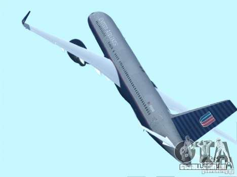 Boeing 757-200 United Airlines para GTA San Andreas esquerda vista