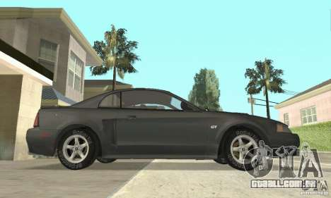 Ford Mustang GT 1999 (3.8 L 190 hp V6) para GTA San Andreas traseira esquerda vista