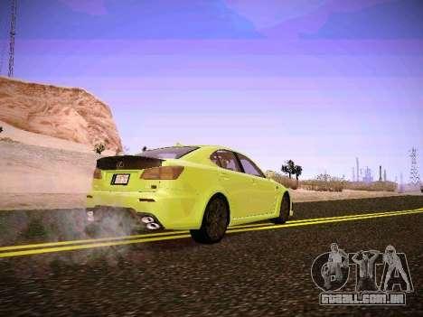 Lexus I SF para GTA San Andreas traseira esquerda vista
