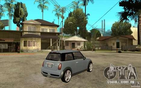 Mini Cooper - Stock para GTA San Andreas vista direita