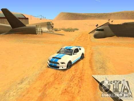 Ford Shelby GT500 para vista lateral GTA San Andreas