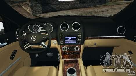 Mercedes-Benz ML63 (AMG) 2009 para GTA 4 vista de volta