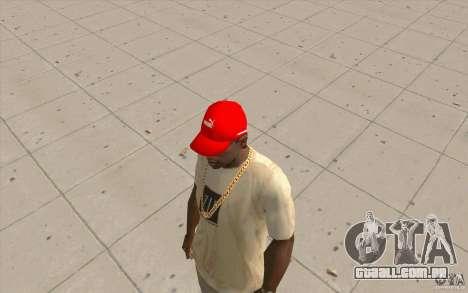 Vermelho brilhante de boné Puma para GTA San Andreas