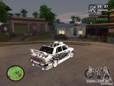 2101 Vaz carro tuning para GTA San Andreas esquerda vista