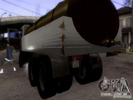 Tanque de leite 53212 KAMAZ para GTA San Andreas traseira esquerda vista