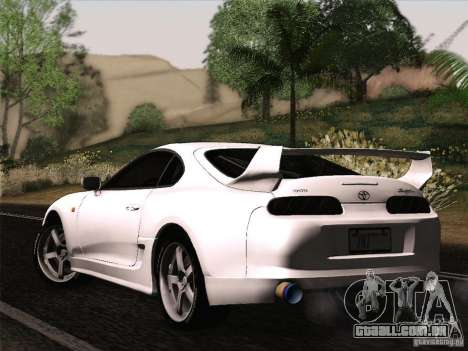 Toyota Supra TRD3000GT v2 para GTA San Andreas vista traseira