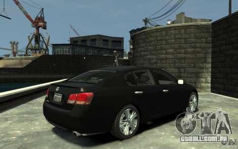 Lexus GS450 2006 para GTA 4 vista direita