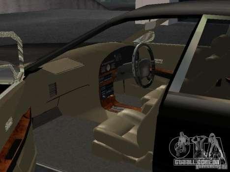 Nissan President JS para GTA San Andreas vista interior