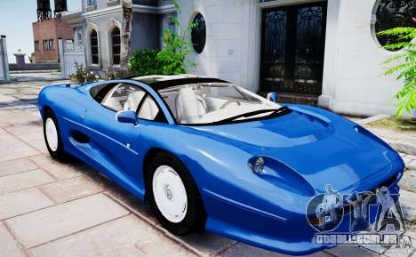 Jaguar XJ 220 para GTA 4 vista direita