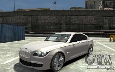 BMW 750i F01 v3 para GTA 4