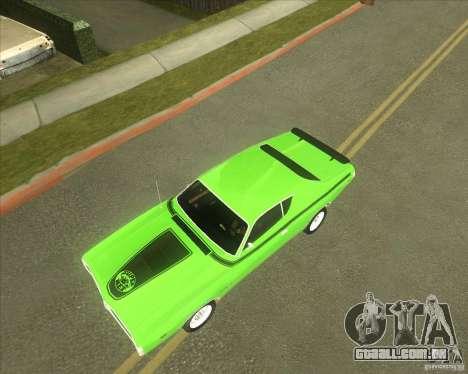1971 Dodge Charger Super Bee para GTA San Andreas vista interior