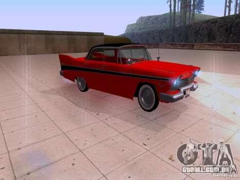 Plymouth Belvedere Sport Sedan 1957 para GTA San Andreas traseira esquerda vista